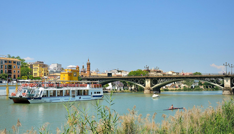 The River Guadalquivir flows handsomely through the centre of the city