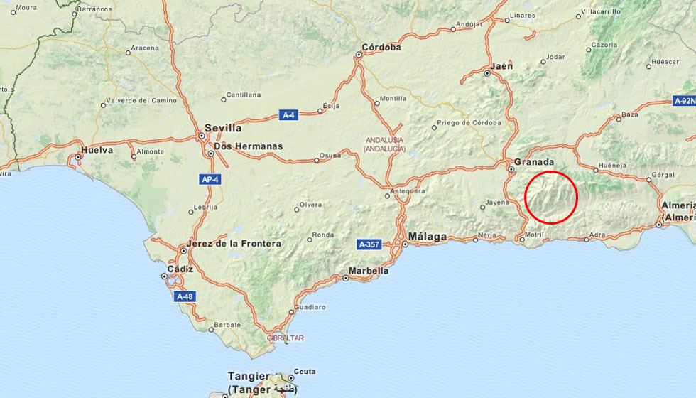 Spanish Touring Holiday Map Of Spain