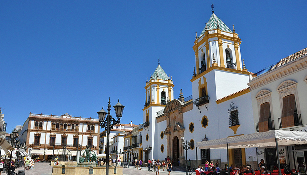 La Plaza del Socorro in the centre of town