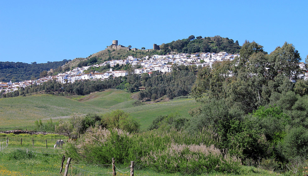 Jimena de la Frontera, 35 km inland from the coast