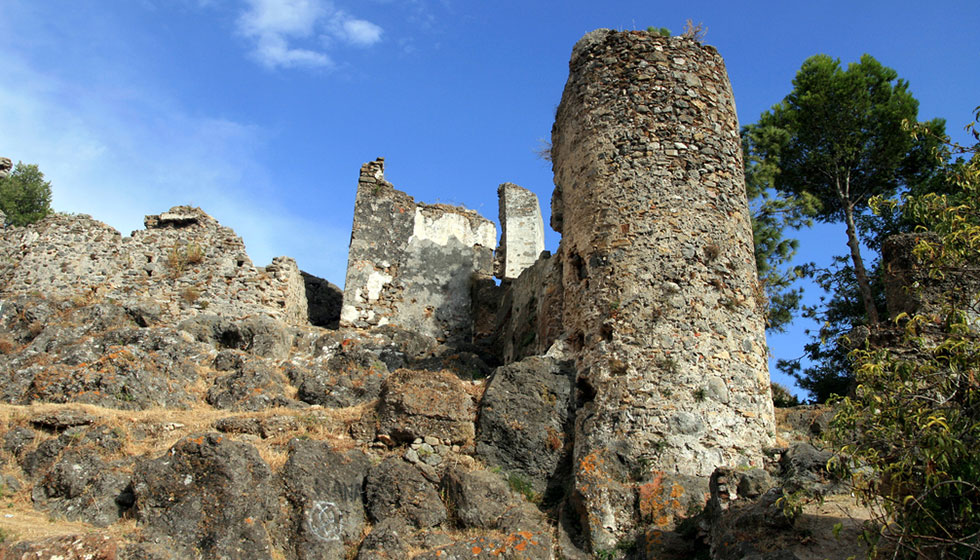 Remains of the 12th Century Arab castle