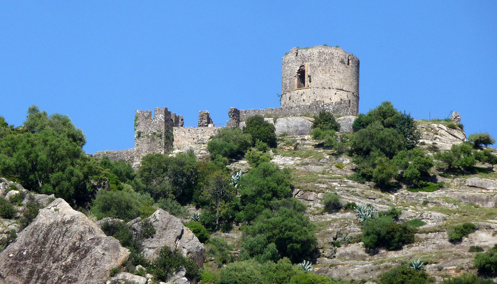 The hilltop ruins of its Moorish castle which dates back to 750 A.D.